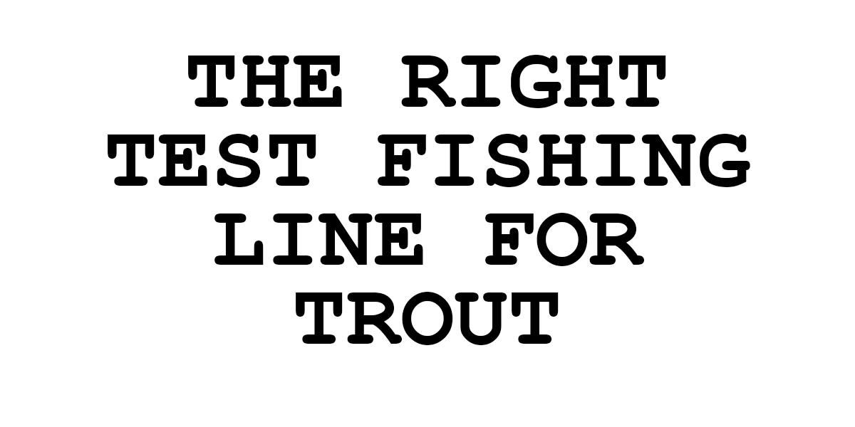 what line weight for trout fishing